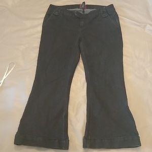 Torrid black flared leg jeans *hemmed*